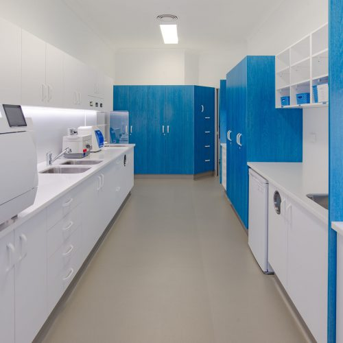 Our cutting edge sterilisation room with a digital tracking system